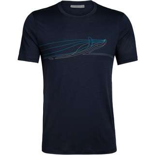 Icebreaker Tech Lite Whale Funktionsshirt Herren midnight navy