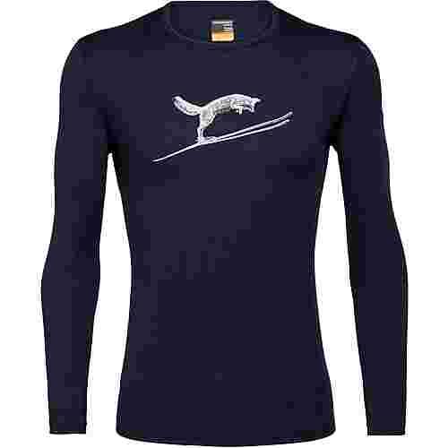 Icebreaker 200 Oasis Fox Jump Funktionsshirt Herren midnight navy