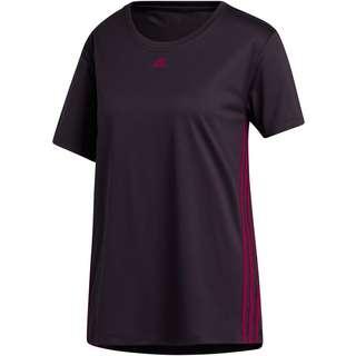 adidas 3 STRIPES Funktionsshirt Damen noble purple