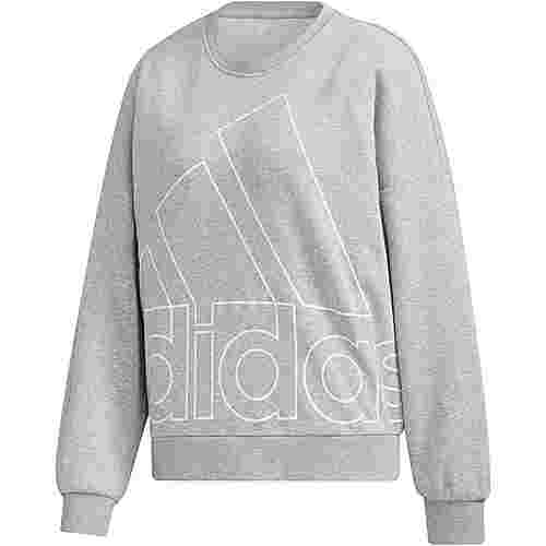 adidas Sweatshirt Damen medium grey heather