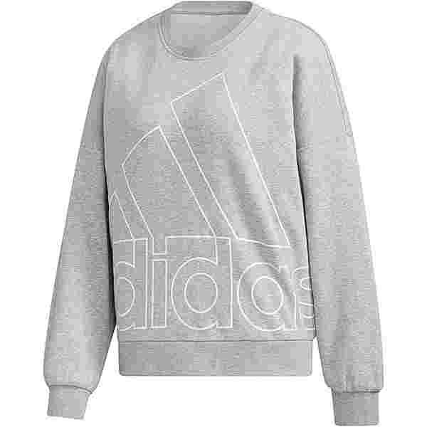 adidas Sweatshirt Damen medium grey heather
