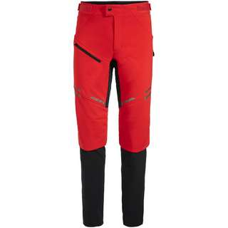 VAUDE Men's Virt Softshell Pants II Fahrradhose Herren mars red