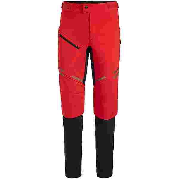 VAUDE Men's Virt Softshell Pants II Fahrradhose Herren mars red