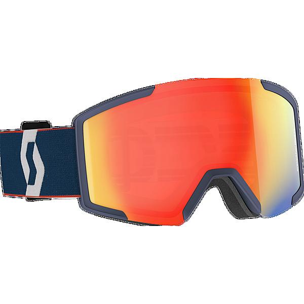 SCOTT Shield Skibrille retro blue-red enh red chr