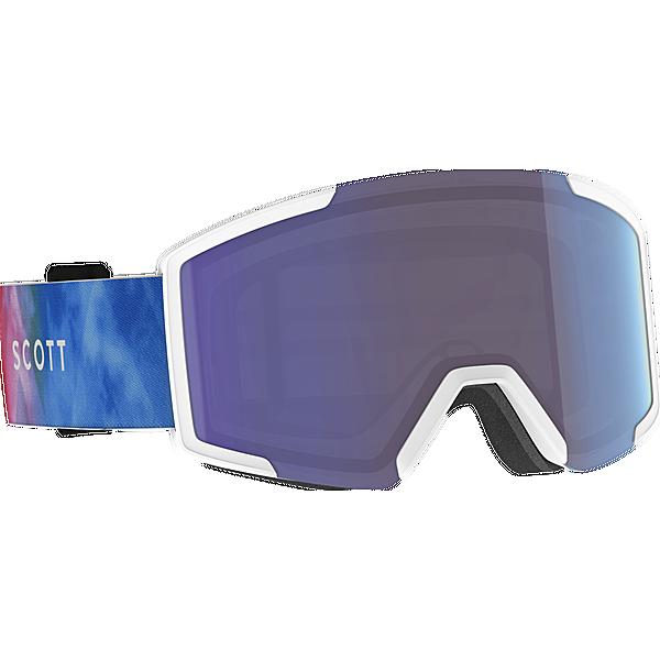 SCOTT Shield Skibrille cyan blue-pink enh blue chr