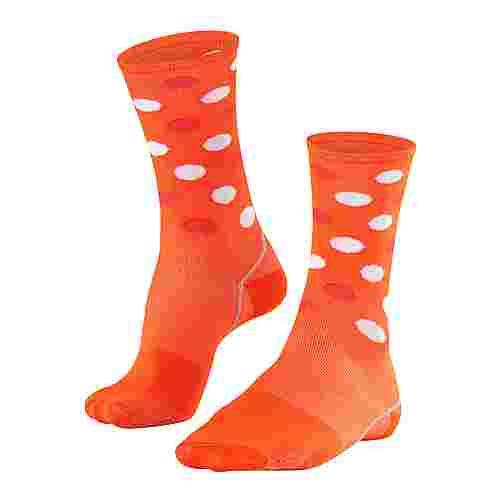 Falke BC Impulse Dots Fahrradsocken orange ray (8018)