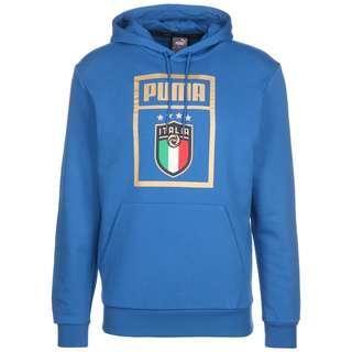 PUMA FIGC Italien DNA EM 2021 Hoodie Herren blau / gold