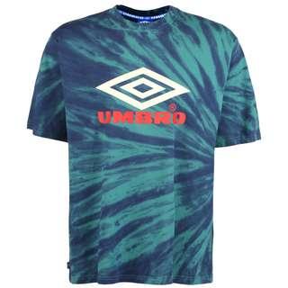 UMBRO Calidoscope T-Shirt Herren türkis / neonrot