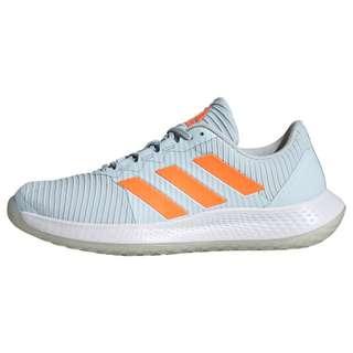 adidas ForceBounce Handballschuh Fitnessschuhe Damen Sky Tint / Signal Orange / Cloud White