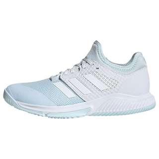 adidas Court Team Bounce Schuh Fitnessschuhe Damen Sky Tint / Cloud White / Signal Orange