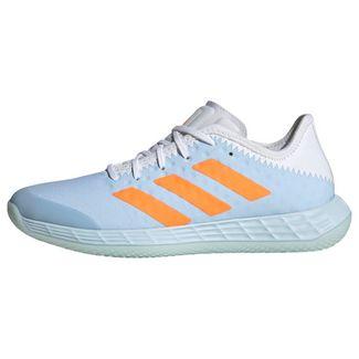 adidas Adizero Fastcourt Handballschuh Fitnessschuhe Damen Sky Tint / Cloud White / Signal Orange