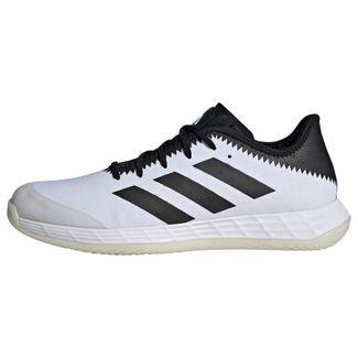 adidas Adizero Fastcourt Handballschuh Fitnessschuhe Herren Cloud White / Core Black / Solar Red