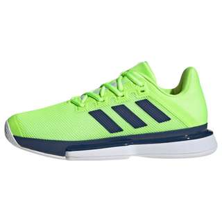 adidas SoleMatch Bounce Hard Court Schuh Hallenschuhe Herren Signal Green / Tech Indigo / Cloud White