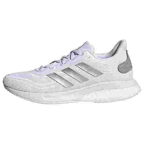 adidas Supernova Laufschuh Fitnessschuhe Kinder Cloud White / Silver Metallic / Chalk White