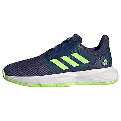 adidas CourtJam Schuh Sneaker Kinder Tech Indigo / Signal Green / Cloud White