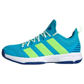 adidas Stabil Indoor Schuh Laufschuhe Kinder Signal Cyan / Signal Green / Royal Blue