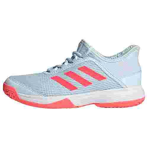 adidas Adizero Club Schuh Sneaker Kinder Sky Tint / Signal Pink / Cloud White / Coral