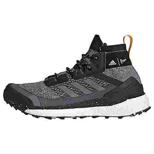 adidas TERREX Free Hiker Parley Wanderschuh Wanderschuhe Herren Core Black / Crystal White / Solar Gold