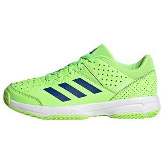 adidas Court Stabil Schuh Sneaker Kinder Signal Green / Royal Blue / Cloud White