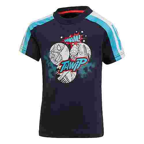 adidas Spider-Man T-Shirt T-Shirt Kinder Legend Ink / Bright Cyan / White