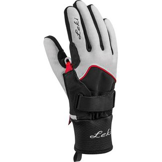 LEKI GORE-TEX® Skihandschuhe Damen weiss-schwarz-rot