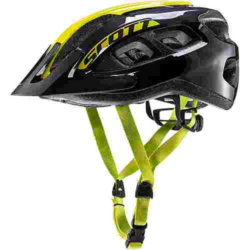 SCOTT SCO Helmet Supra (CE) Fahrradhelm black-radium yellow
