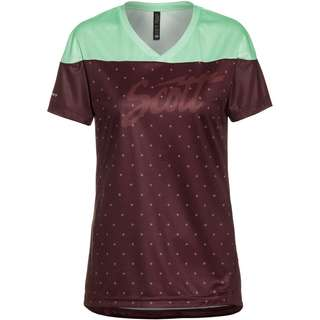 SCOTT SCO Shirt W's Trail Flow s/sl Trikot Damen maroon red/mint green