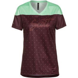 SCOTT SCO Shirt W's Trail Flow s/sl Fahrradtrikot Damen maroon red/mint green