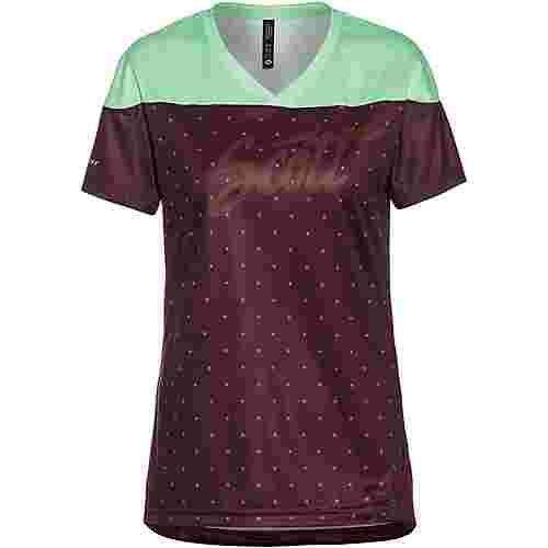 SCOTT SCO Shirt W's Trail Flow s/sl Trikot Damen maroon red/mint green