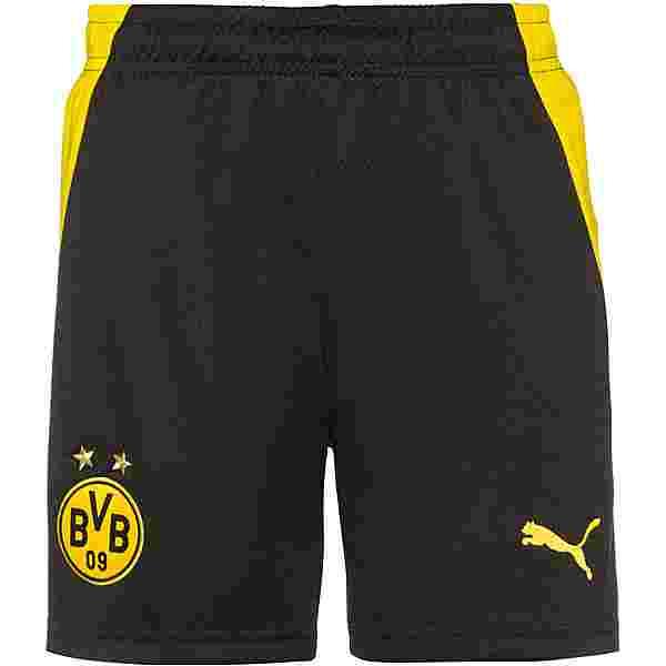 PUMA Borussia Dortmund 20-21 Heim Fußballshorts Kinder puma black-cyber yellow