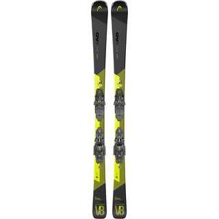 HEAD V-Shape V8 SW LYT-PR + PR 11 GW All-Mountain Ski schwarz-gelb