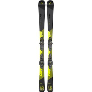 HEAD V-Shape V8 SW LYT-PR + PR 11 GW All-Mountain Ski schwarz-gelb