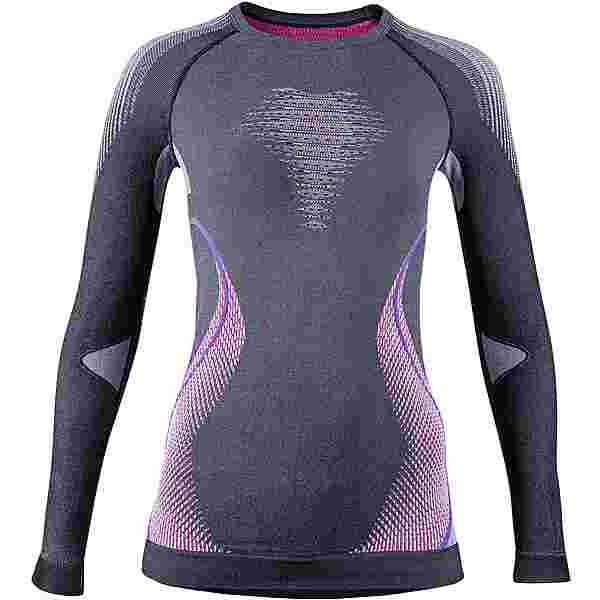 Uyn Evolutyon Unterhemd Damen anthracite melange-raspberry-purple