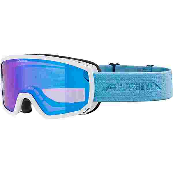 ALPINA SCARABEO S HM Skibrille white-skyblue