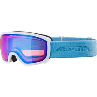 ALPINA SCARABEO JR. Skibrille Kinder white-skyblue