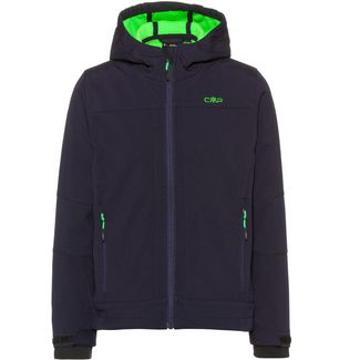 CMP Softshelljacke Kinder black blue-verde fluo