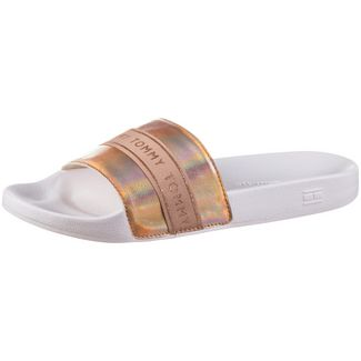 Tommy Hilfiger TOMMY GLITTER POOL SLIDE Badelatschen Damen rose gold-white