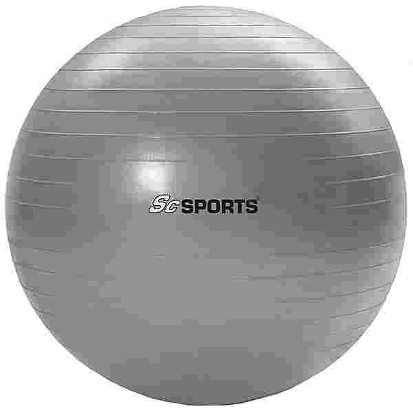 ScSPORTS Gymnastikball  65 cm Gymnastikball grau