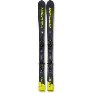 Fischer RC4 RACE JR SLR + FJ4 AC SLR All-Mountain Ski Kinder schwarz