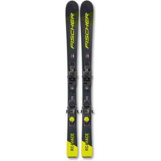 Fischer RC4 RACE JR SLR + FJ7 AC SLR All-Mountain Ski Kinder schwarz