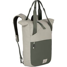 Osprey Arcane Tote Pack Umhängetasche Lunar Grey/Haybale Green