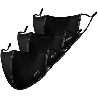 PAC 3er Pack Lightweight Community Mask Gesichtsmaske total black