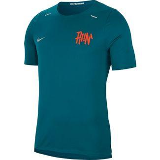 Nike Breath Rise 365 Funktionsshirt Herren geode teal-team orange-reflective silv