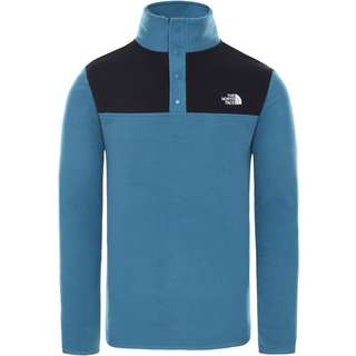 The North Face GLACIER SNAPNECK Fleeceshirt Herren mallard blue/tnf black