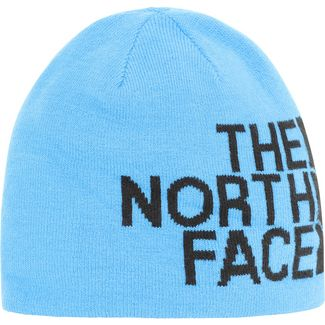 The North Face Revisible Banner Wendemütze clear lake blue/tnf black