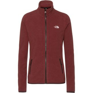 The North Face 100 Glacier Fleecejacke Damen ROOTBRN/POMEGRANATESTRIPE