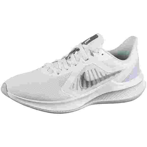 Nike DOWNSHIFTER 10 Laufschuhe Damen white-mtlc silver-pure platinu
