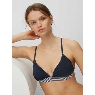 Marc O'Polo Triangel-Bikinitop Printed Bikini Oberteil Damen blauschwarz