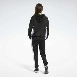 Reebok Linear Logo Hoodie Track Suit Trainingsanzug Damen Schwarz