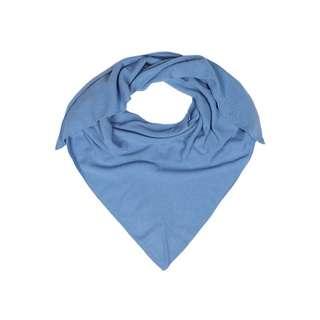 Zwillingsherz Dreieckstuch Uni Tuch Damen blau
